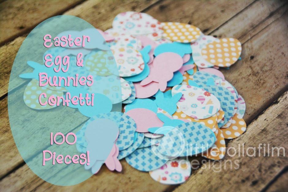 Easter Egg & Bunny Confetti