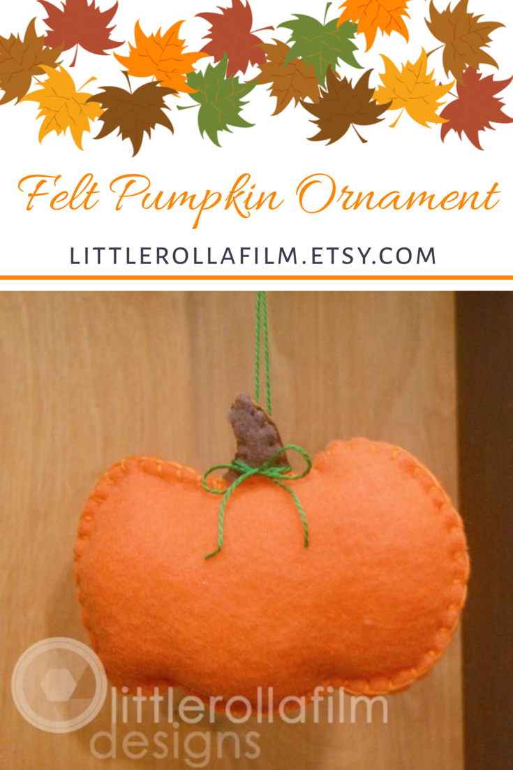 Felt Pumpkin Ornament